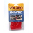 """Velcro One Wrap Strap 11"""" Red - 90475"""